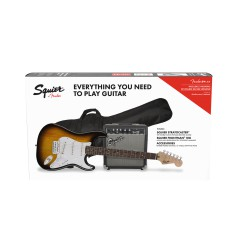 FENDER SQUIER Pack Strato Frontman 10G Brown Sunburst