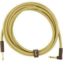 Fender Deluxe Series Cable Instrumento 3m acodado Tweed