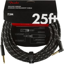 Fender Deluxe Series Cable Instrumento 7.5m acodado Black Tweed