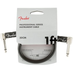Fender Professional Series Cables Instrumento Latiguillo 30cm Black