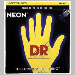 DR Strings 45-125 Neon Yellow
