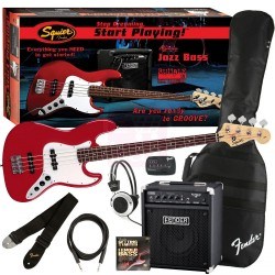 FENDER SQUIER Pack Affinity Jazz Bass + Rumble 15 Metallic Red